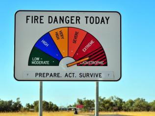 Australia Fire Danger scale